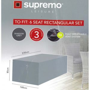 Supremo 6 Seat Rectangular Set All Weather Furniture Cover