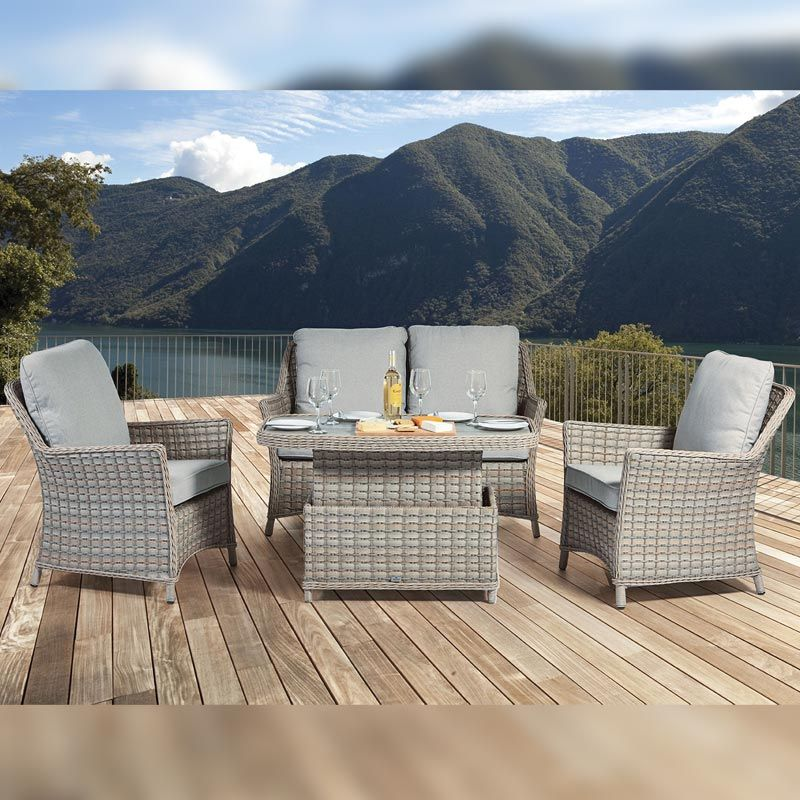Supremo Venice Garden Lounge Dining Set Adjustable Dining Table